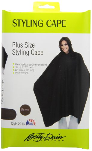 A Size Above Styling Cape with Snap Closure, Chocolate Brown