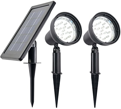 high output solar spot light white light lighting. Black Bedroom Furniture Sets. Home Design Ideas
