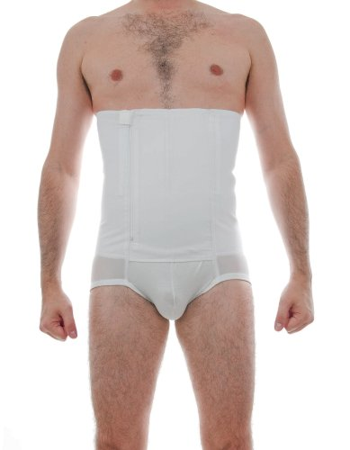 Underworks BELLY BUSTER! 12-inch Zip-N-Trim Brief Girdle for Men