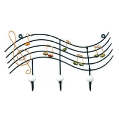 Musical Notes River Wall Hooks ~ Coat Rack