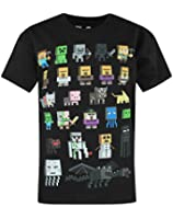 Minecraft Sprites Boys Minecraft Short Sleeve T-shirt - Ages 5 to 13 Years