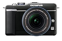 Olympus PEN E-PL1 12.3MP Live MOS Micro Four Thirds Mirrorless Digital Camera with 14-42mm f/3.5-5.6 Zuiko Digital Zoom Lens (Black)