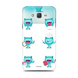 Motivatebox - Samsung Galaxy J5 Back Cover - Froggy pattern Polycarbonate 3D Hard case protective back cover. Premium Quality designer Printed 3D Matte finish hard case back cover.