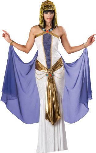 InCharacter Costumes, LLC Jewel Of The Nile Full Length Panne Gown, White/Purple, X-Large