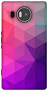 The Racoon Grip Purple Crystal Stars hard plastic printed back case / cover for Microsoft Lumia 950 XL