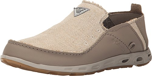 Columbia Men's Bahama Vent Loco PFG Casual Boat Shoes, Taupe Leather, 11.5 M (Columbia Bahama Vent Fishing Shoe compare prices)