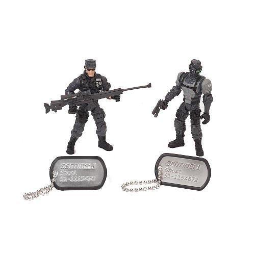 True Heroes Soldier 2-Pack- Steel/Ghost