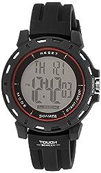 Sonata Sonata Touch Screen Digital Black Dial Mens Watch - 77037PP07J