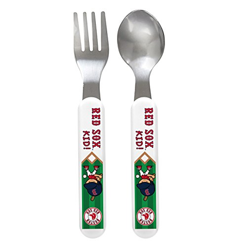 Baby Fanatic Fork And Spoon Set, Boston Red Sox front-1036506