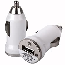 buy Bullet Usb In Car Charger Adapter Port For Sony Ericsson Xperia X10 Mini Pro / White Design