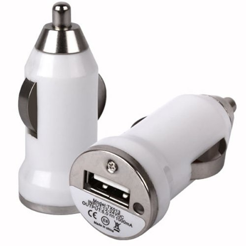 USB In Car Charger For Samsung Rex 60 C3312R / White