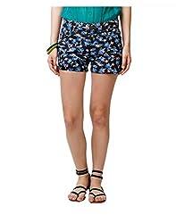 Yepme Nicky Printed Shorts - Black & Blue -- YPMSORT5058_32