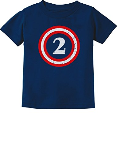 Captain 2nd Birthday - Gift for Two Years old Toddler/Infant Kids T-Shirt 2T Navy (Captain America T Shirt Toddler compare prices)