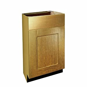 Harbor city millwork vb122130 spnb shaker hardwood door for Bathroom cabinets 20 inches deep