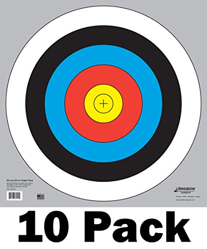 buy 60 cm / 24 in Bullseye Archery and Gun Targets by Longbow Targets (pk of 10) for sale