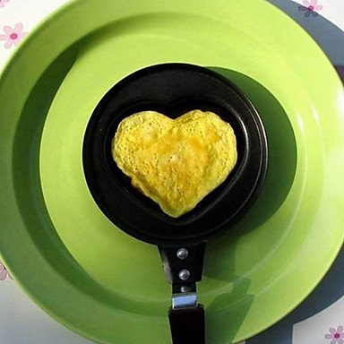 Zaki- New Heart Shaped Egg Fry Frying Cook Pan Cooker Non-Stick Pot