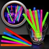 Glow Swizzle Sticks 5 Inch, 50 Pack