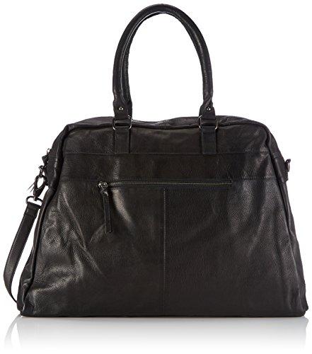 Black Lily Loka Weekend Bag, Borsa a mano donna, Nero (Nero (nero)), 54x42x12 cm (B x H x T)