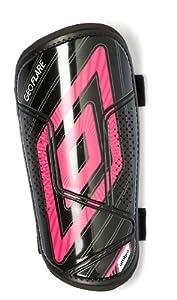 Umbro 220512U - Espinilleras para niño (talla XS), color negro y rosa