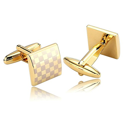 alimab-jewelry-mens-cuff-links-checkered-square-modern-design-fashion-gold-silver-stainless-steel-me