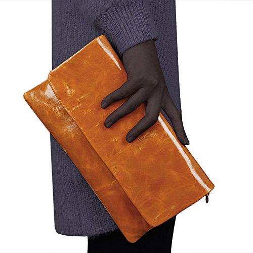 JackChris-New-Women-Leather-Envelop-Clutch-Shoulder-Tote-Bag-Handbag-PurseWBGT035