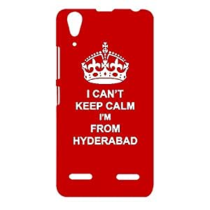 Skin4gadgets I CAN'T KEEP CALM I'm FROM HYDERABAD - Colour - Red Phone Designer CASE for LENOVO A6000