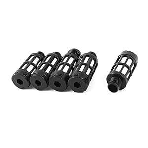 Plastic Pneumatic Noise Reducing Silencer Muffler 1/8PT 5Pcs Black