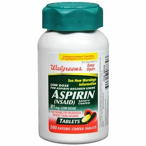 Walgreens Aspirin Low Dose 81 mg Tablets - 500 ea