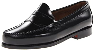 Bass Men's Logan Flat Panel Loafer,Black,6.5 D