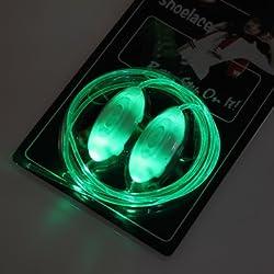 Light Up LED Neon Shoe Laces Party Disco Shoe Laces - Green