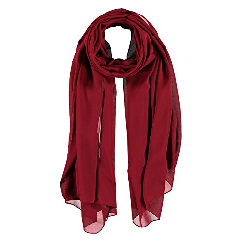 Chiffon Sciarpa Estiva Passigatti sciarpa da donna sciarpa estiva Taglia unica - rosso bordeaux