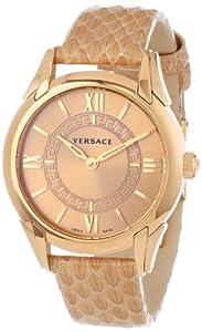 Versace Women's Dafne Round Elaphe Design Watch