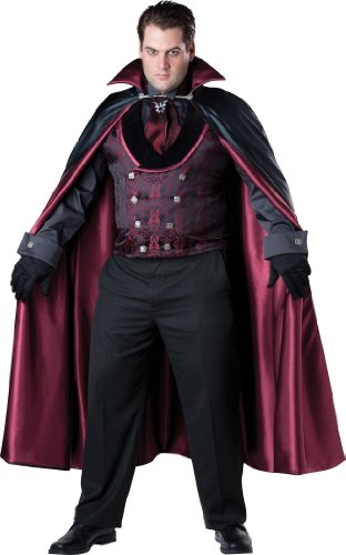 InCharacter Costumes Men's Plus-Size Midnight Vampire Costume
