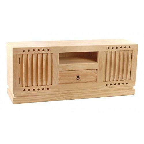 Aparador TV de madera de pino natural envejecdo
