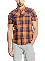 Mammut Camisa Hombre Buckwell (Naranja / Azul)
