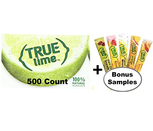 True Lime Bulk Pack, 500 Count With 5 Free True Lemon Variety Lemonade Sample Sticks