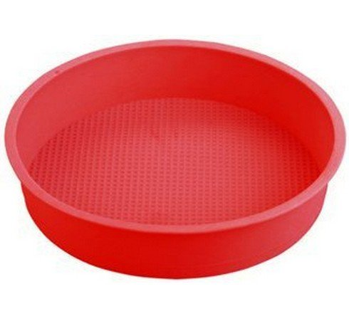 Allforhome 10 Inches Big Round Flexible Silicone Cake Baking Mold Cake Pans Diy Moulds