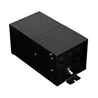 Fusion Monorail 300W Remote Magnetic Transformer with Black Metal Housing - Multiple Voltage Options Input Volt/Output Volt/Input Current: 1 x 120 VAC/24V/1.25A