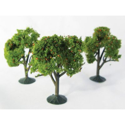 Wee Scapes Architectural Model Trees Orange Trees 2 1/4 in. - 2 1/2 in. pack of 3 - 1