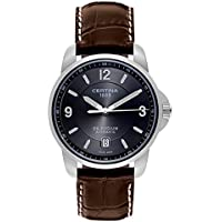 Certina DS Podium Automatic Grey Dial Leather Mens Watch (Brown)