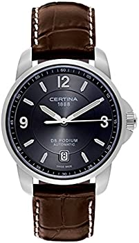 Certina DS Podium Automatic Grey Dial Brown Leather Mens Watch