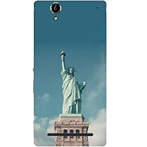 Casotec Colorful Statue Of Liberty Design Hard Back Case Cover for Sony Xperia T2 Ultra
