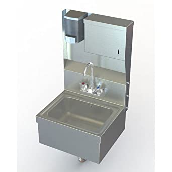 Apron Laundry Sink : Wall Mount Utility Hand Sink with Stainless Steel Apron: Laundry Tub ...