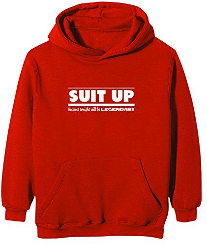 Touchlines - Sweatshirt How I Met Your Mother - SUIT UP, Felpa per bimbi, rosso (red), 152/164