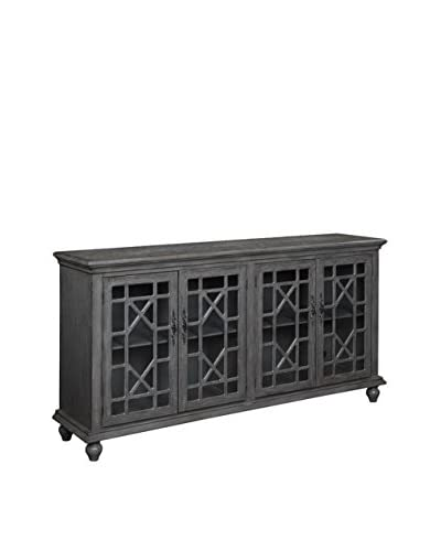 Coast to Coast Cloisonné 4-Door Media Credenza