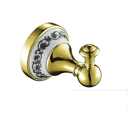 ownace Gold Viktorianischer Stil Badezimmer Zubehör Bademantel Haken Kleiderbügel WC-Wand montiert gold