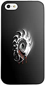 Incredible 3D multicolor printed protective REBEL mobile back cover for iPhone-5 / 5S D.No-DEZ-2796-i5