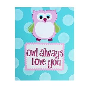 Amazon.com: Owl Always Love You: Kids Room Canvas Wall Art ...