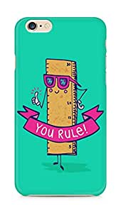 Amez designer printed 3d premium high quality back case cover for Apple iPhone 6 plus (Creative Funny illustrations you rule)