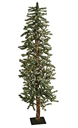 5' Pre-Lit Snowy Flocked Alpine Artificial Christmas Tree - Clear Lights